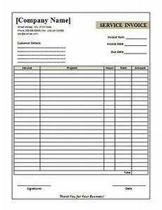 hoover receipts free printable service invoice template