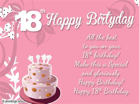 18th Birthday Wishes, Greeting And Messages