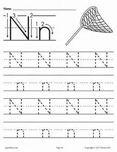 letter tracing worksheets editable 23876 printable letter n tracing worksheet supplyme
