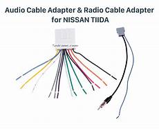 sound wiring harness audio cable adapter and radio cable adapter for nissan tiida sylphy livina