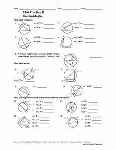 inscribed angles worksheet answer key nidecmege
