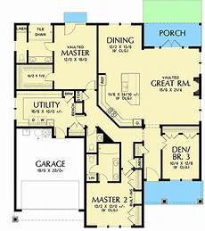 two master suites house plans one story house plan with two master suites in 2020