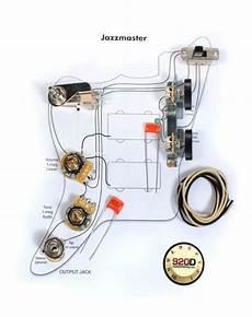 fender jaguar b wiring kit fender vintage jazzmaster wiring kit pots switch slider caps bracket diagram reverb fender