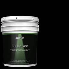 behr marquee 5 gal black gloss enamel exterior paint and primer in one 545305 the home depot