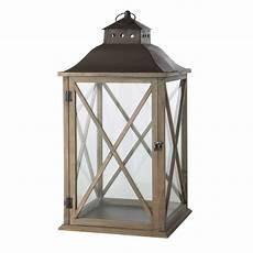 lanterne pour terrasse lanterne de jardin en bois gris 233 h 72 cm leontine