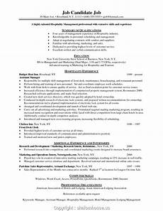creative sle resume for hospitality and tourism management how to write a resume for