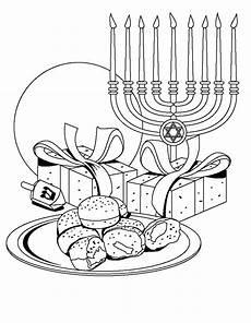 hanukkah coloring pages menorahs family net