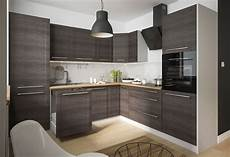 moderne kleine küchen k 252 chenblock 270x242cm grau fino schwarz l form k 252 che