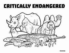 endangered animals coloring pages 16966 critically endangered animals wildlife coloring page tpt