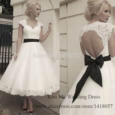 2015 vintage short wedding dress tea length lace bridal