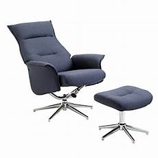 Fauteuil Relax Design Homcom Fauteuil Relax Inclinable Pivotant Avec Repose Pied