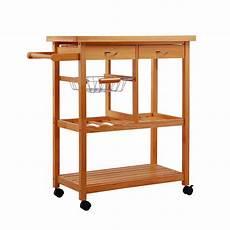 Wooden Kitchen Storage Trolley