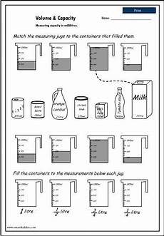 liquid measurement worksheets grade 3 1675 volume and capacity worksheet capacity worksheets math measurement capacity activities
