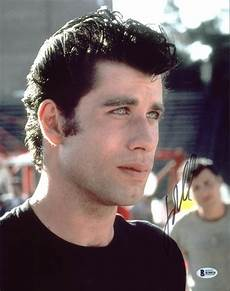 travolta grease authentic signed 11x14 photo