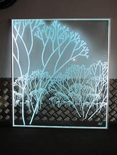 plaque en verre avec leds atelier du verre cr 233 ations