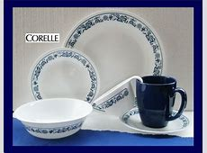 *New 24pc Corelle OLD TOWN BLUE Onion DINNERWARE Set *RARE