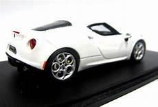 white 1 43 scale spark diecast alfa romeo 4c model