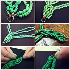Bead Necklace Diy Braided Bead Strand Tutorial