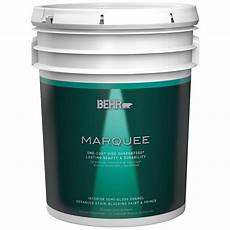 behr marquee 5 gal ultra pure white semi gloss enamel one