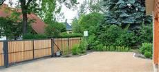 Zaunbau Aus Gabionen Metallund Holz Bethke Garten Und