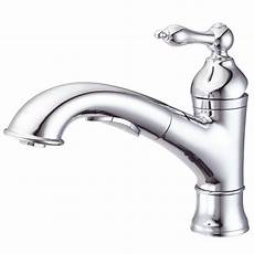 kitchen faucets danze danze fairmont single handle pull out sprayer kitchen faucet in chrome d455040 the home depot