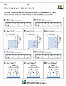 5th grade measurement worksheets