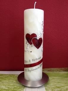 Hochzeitskerze Selber Gestalten - kerzen hochzeitskerze marmorherz bienenwachs rot