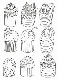 simple cupcakes cupcakes coloring pages