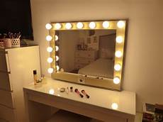 decor chic mirror with light bulbs for makeup needs griffinmeadery com