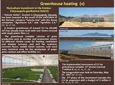 Exploitation of Low Enthalpy Geothermal Resources in Greece