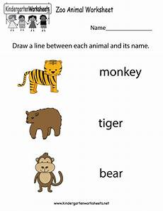 zoo animal worksheet free kindergarten learning worksheet for kids