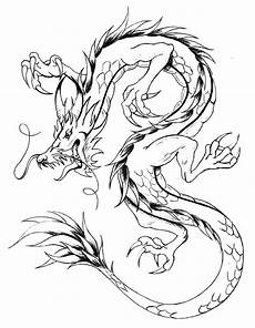 asian style dragons coloring pages