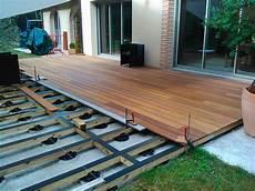 structure terrasse bois la construction d une terrasse bois pos 233 e sur des