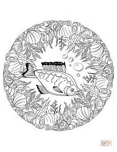 Malvorlagen Mandala Fische Fish Mandala Coloring Page Free Printable Coloring Pages
