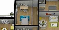 Gambar Denah Rumah Unik Minimalis 2 Kamar Bikin Betah
