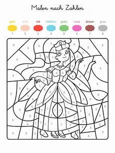 Malen Nach Zahlen Kinder Malvorlagen Kostenlose Malvorlage Malen Nach Zahlen Prinzessin