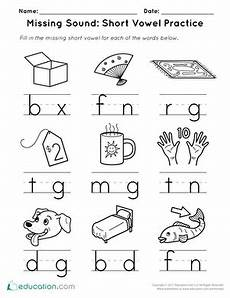 short vowels worksheets education com