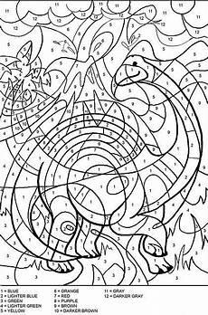 color by number coloring pages 18053 colora coi numeri i dinosauri color by numbers pagine da colorare per adulti libri da colorare