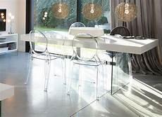 table et chaise transparente chaise elizabeth m 233 daillon transparente