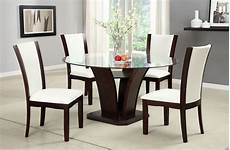 manhattan ii contemporary dark cherry casual dining with padded leatherette chair cm3710r