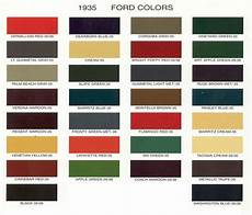 vintage ford paint chips 1935 ford car colors polymer clay