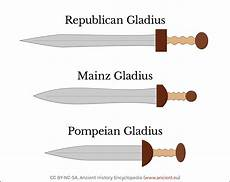 teaching directions with maps 11785 different types of gladius swords illustration ancient history encyclopedia