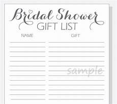 Free Wedding Gift List