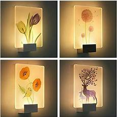3d night light applique murale luminaire led wall l