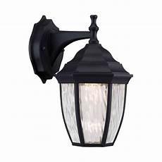 hton bay 1 light outdoor wall lantern in black the home depot canada