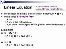 standard form of a linear equation exles tessshebaylo
