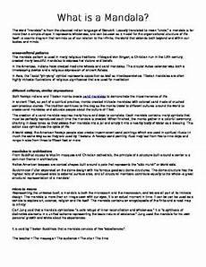 mandala history worksheet 15925 creating a literary mandala by katharine wheeler tpt