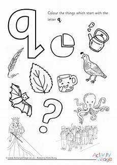 letter q colouring pages