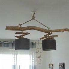 luminaire suspension bois flotté lustre plafonnier en bois flott 233 cr 233 ation unique
