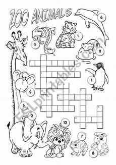 zoo animals esl worksheet by alenka